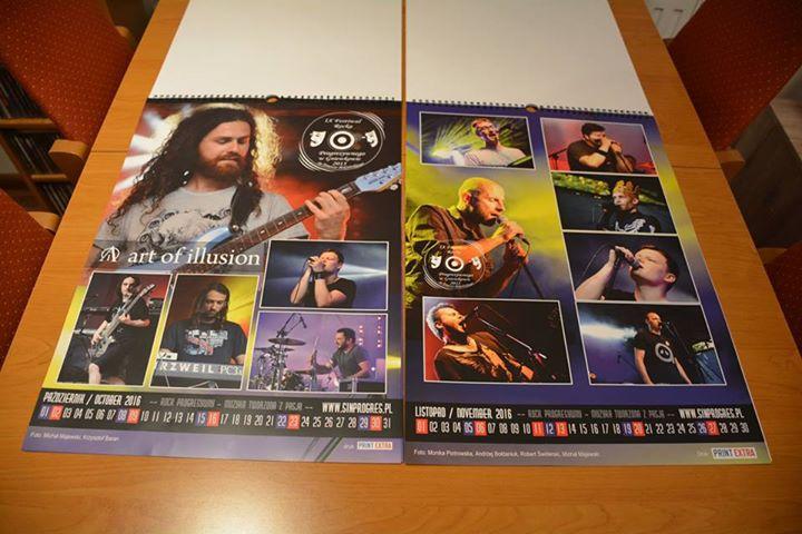 kalendarze progress - wydrukowane